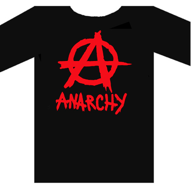 Anarchy Tee Shirt Moulant Fille