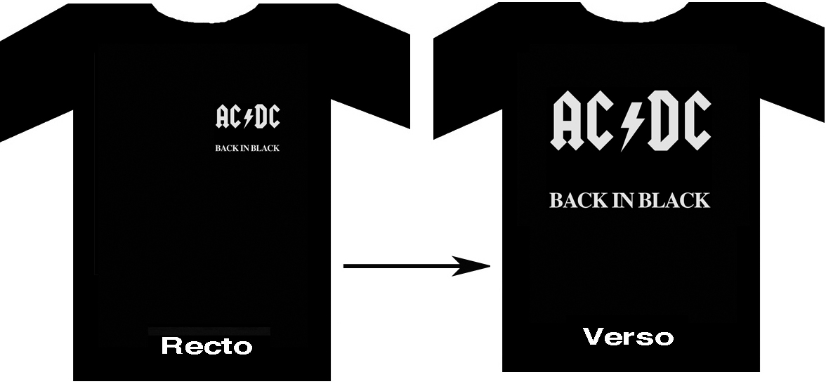 "ACDC ""Back In Black"" - Tee Shirt  noir"