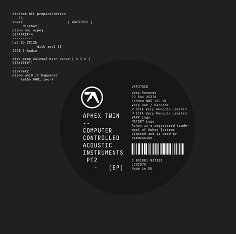 "APHEX TWIN ""Computer controlled acoustic instruments pt2"" LP"