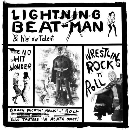 "LIGHTNING BEAT-MAN & HIS NO TALENT ""Wrestling rock'n'roll"" VINYL"