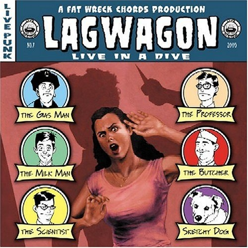 "LAG WAGON ""Live in a dive"" CD"