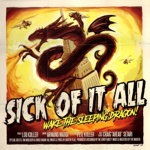"SICK OF IT ALL ""Wake the sleeping dragon"" VINYL"
