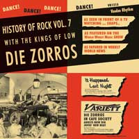 "DIE ZORROS ""History of rock vol.7"" LP"